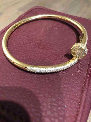 VALENTINE'S DAY ❤14k gold Cartier Love bracelet W\ 2.8 k diamonds for Sale in Atlanta, GA