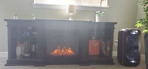 TV stand with fire place for Sale in Kent, WA