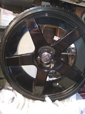 """22"""" rims and tires for Sale in Hemet, CA"""