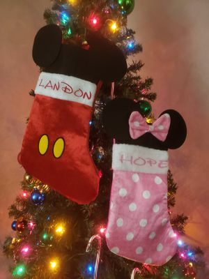 Minnie and Mickey stockings for Sale in Rancho Cucamonga, CA