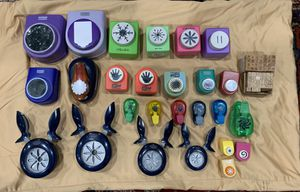 Punches - 26 and 2 alphabet rubber stamps for Sale in Mundelein, IL