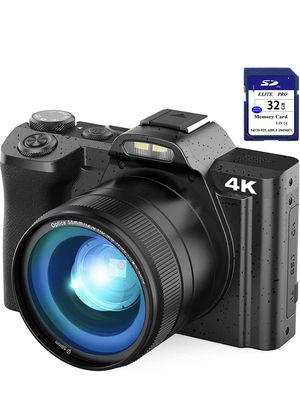 """4K Digital Camera Video Camera for YouTube, Kenuo 48MP Vlogging Camera Camcorder with WiFi, 3.5"""" IPS Touch Screen, Wide Angle Lens, 32GB SD Card, Tim for Sale in Monterey Park, CA"""