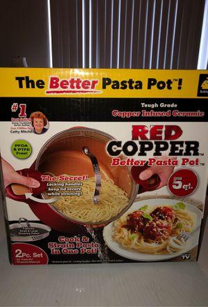 Red copper pasta pot for Sale in Las Vegas, NV