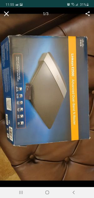 CISCO Linksys E2500 dual band router. Works great for Sale in Mira Loma, CA