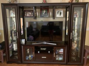 Brown tv stand for Sale in Troy, MI