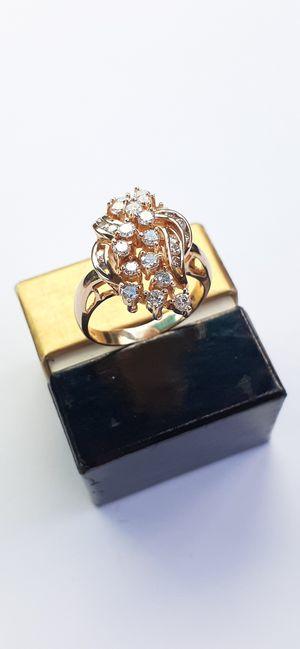 $1500! Awesome 14k plumb gold 28 diamond custom ring for Sale in Tacoma, WA