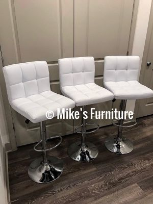 New 3 white bar stools $55 each for Sale in Orlando, FL
