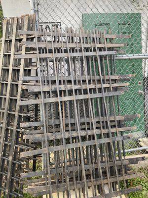 Steel bars, could be used for various things, like Burglar bars rails on a trailer the wider ones are 78/ 27width and slimmer ones are 65 length and for Sale in Atascocita, TX
