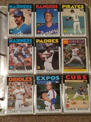 Over 300 excellent condition 1986 Topps Baseball Cards for Sale in Portland, OR