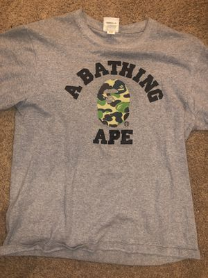 Bape grey T Shirt - medium for Sale in Westerville, OH