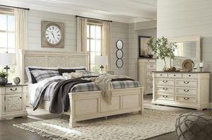((SPECIAL] Bolanburg Antique White Louvered Panel Bedroom Set for Sale in Arlington, VA