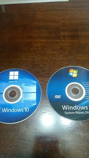 Windows 7 and 10 repair discs for Sale in Johnson City, TN