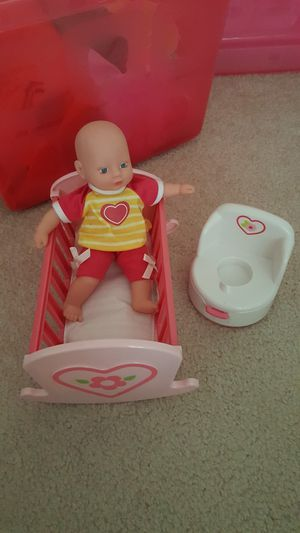 baby doll with crib for Sale in Richmond, VA
