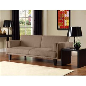 Modern Tan Microfiber Upholstered Futon Style Sleeper Sofa Bed.FF-765788888FS. for Sale in San Francisco, CA