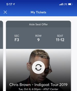 Chris brown tickets for Sale in San Antonio, TX