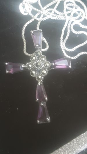 Amethyst & silver necklace for Sale in Nashville, TN