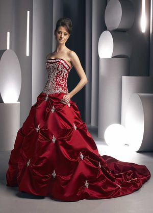 Red DaVinci wedding dress Ball Gown for Sale in Boston, MA