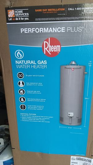 50 Gallon Rheem Gas 9 year water heater for Sale in Denver, CO