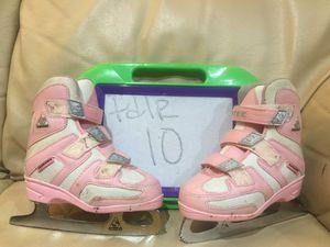 Toddler size 10 SOFTEK velcro Figure skates, sharpened, BEST SKATES for Sale in Wheeling, IL