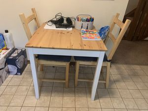 IKEA kitchen table + 2 chairs for Sale in Englewood, CO