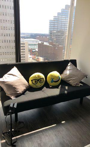 BALKARP Sleeper sofa, Knisa black for Sale in Baltimore, MD