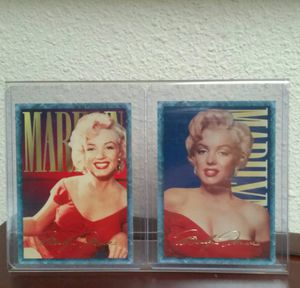 (2) Marilyn Monroe trading cards in display for Sale in Vancouver, WA