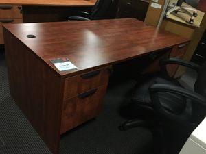Cherry laminate Executive Desk for Sale in Alexandria, VA