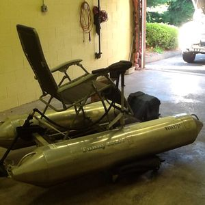 Mini pontoon boat electric lots fun for Sale in South Windsor, CT