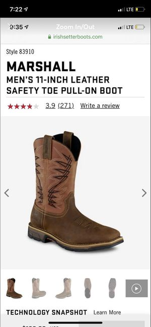 Red Wing Shoes Irish Setter Work Boots for Sale in Anthony, NM