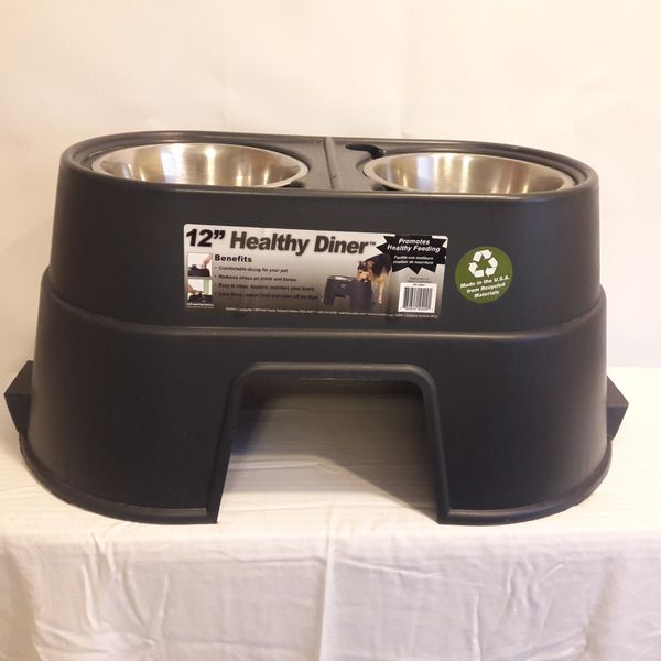12 inch Elevated Pet Food Diner