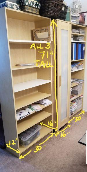 2 IKEA 6'Bookcases & Cabinet Shelves - Read BONUS details pls ;) for Sale in Los Angeles, CA