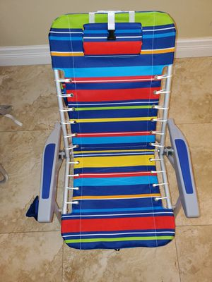 NEW - RIO Beach 4-Position Lace-Up Backpack Folding Beach Chairs - SET OF 2 - $25 EACH for Sale in Fort Lauderdale, FL