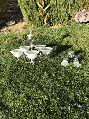 Hanging Chandelier and bathroom vanity light for Sale in Antioch, CA