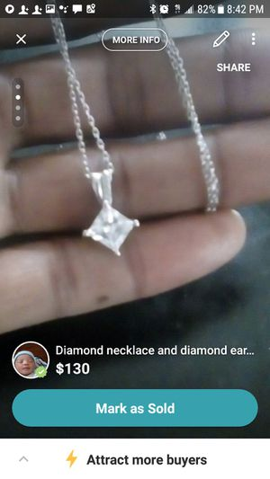 Diamond necklace and earrings $130 OBO for Sale in Detroit, MI