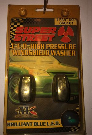 Super Street Windshield Washer Blue LED Nozzle Brand New for Sale in Chicago, IL