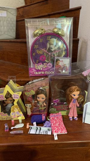 Bratz MGA Doll Designer Oversized Dumb Bell Clock plus hair Flair Doll - DANA +Story book Yasmin's movie premiere n Girlz Girl Bratz Kidz Kid Sleep-O for Sale in Walnut, CA