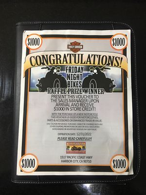 California Harley Davidson $1000 Store Credit for Sale in San Pedro, CA