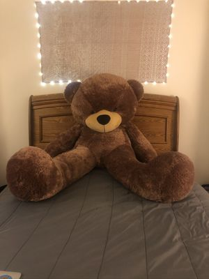 6ft. - Life size Teddy Bear-Almost New for Sale in Ypsilanti, MI
