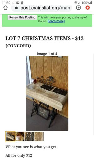 LOT 7 CHRISTMAS ITEMS for Sale in Lynchburg, VA