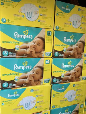 Pampers size 3 diapers new (124 count) $25 each box for Sale in El Monte, CA