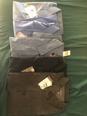 5 mixed van Heusen XXL shirts new never worn for Sale in Houston, TX