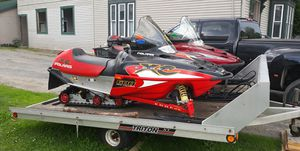 Package deal 2 sleds with trailer for Sale in Moscow, ME