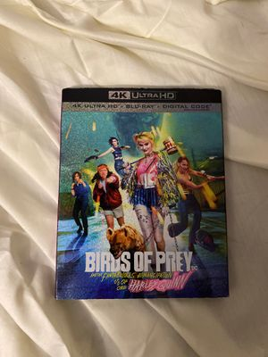 Birds Of Prey 4K Ultra + Blu-Ray DVD for Sale in Lawrence Township, NJ