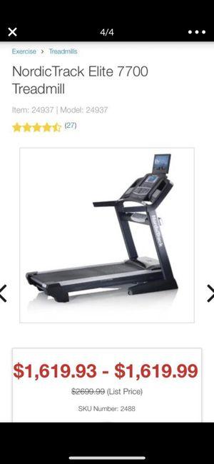 Nordic Track Elite 7700 Treadmill for Sale in San Diego, CA