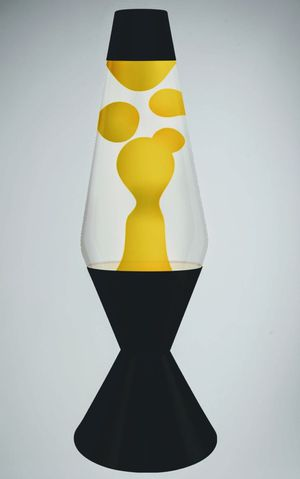 Lava Lamp Black and Yellow for Sale in Hacienda Heights, CA