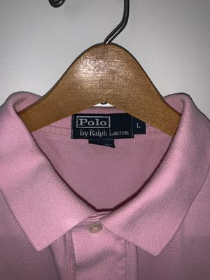 Men's Ralph Lauren Polo shirt. Size: L, Color: Pink , Design: Polo Rugby for Sale in Chevy Chase, MD