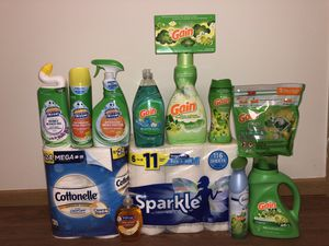 Gain Household Laundry Bundle - Includes Sparkle and Cottonelle for Sale in Pickerington, OH