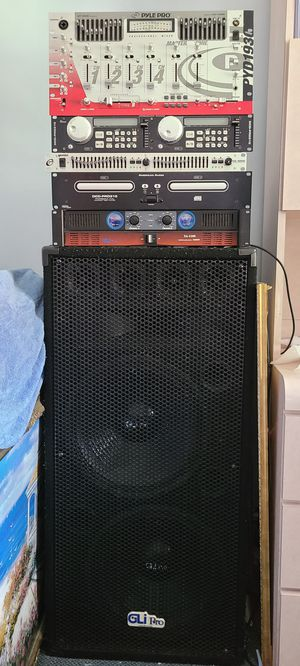 Dj audio system ..used but everything works for Sale in Queens, NY