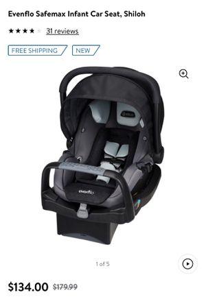 Evenflow Safemax infant car seat + 2 bases for Sale in Fort Lauderdale, FL