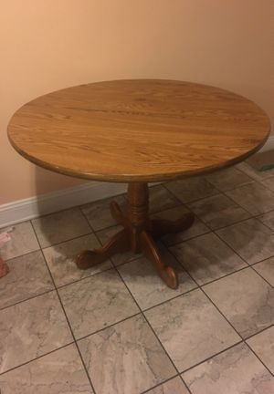 round wooden table for Sale in Washington, DC